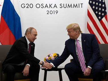 'Don't meddle in the election': Donald Trump jokes about Mueller report during meeting with Vladimir Putin in Osaka