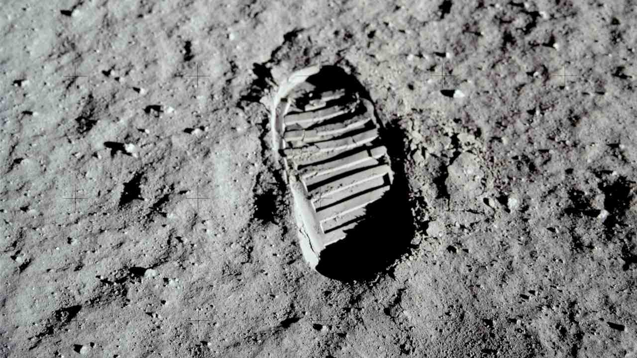 The footprint of the first man to land on the Moon – Neil Armstrong. Source: ALSJ/NASA