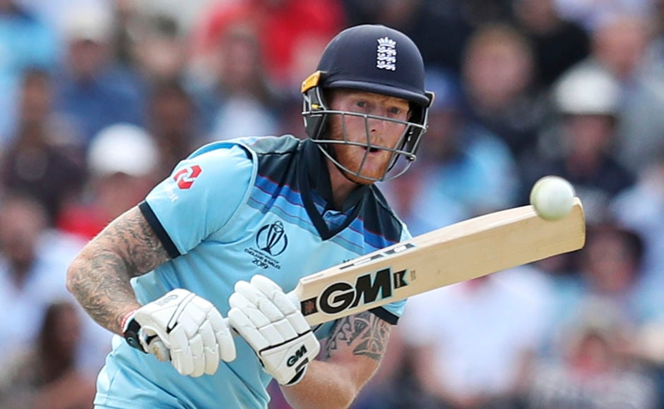 Ben Stokes kept England's hopes alive with an unbeaten knock of 82, while the hosts kept losing wickets at the other end. His knock comnsisted of seven fours and four sixes. AP