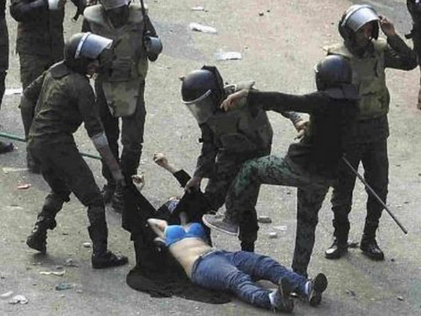 The Girl in the blue bra. Reuters