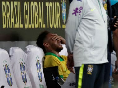 International friendlies: Brazils Copa America preparations suffer injury scare as Neymar sprains ankle in win over Qatar