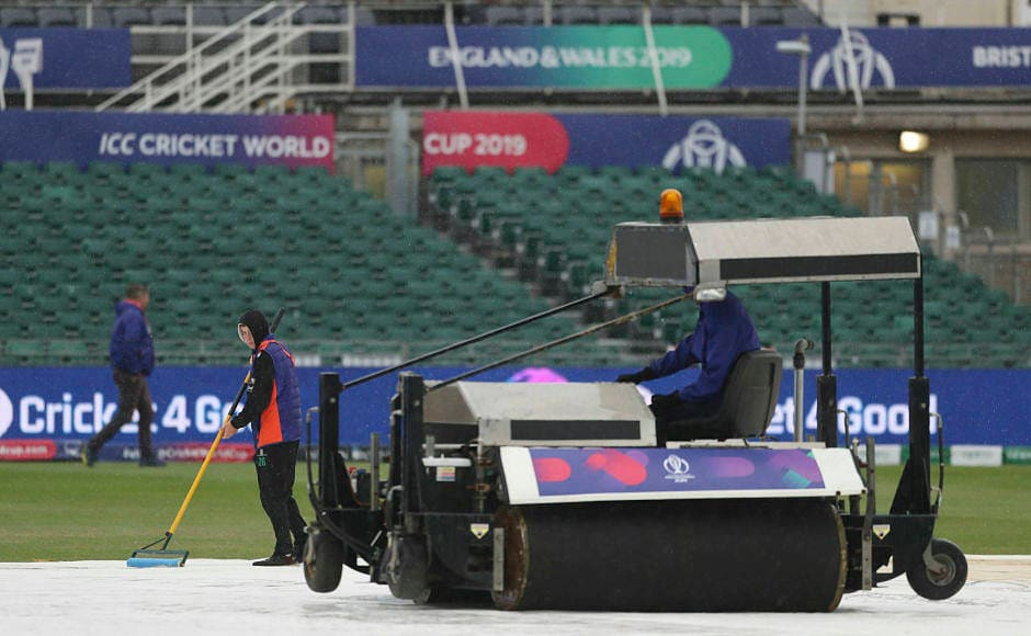 The ground staff had a tough time in clearing the water to give any hope of a match, but eventually all of their hard work went in vain.