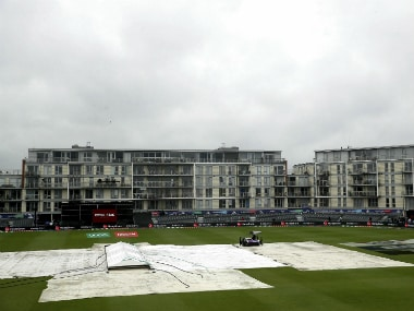 The County Ground in Bristol remained under covers right until the the officials decided to call off the Bangladesh-Sri Lanka match. AP