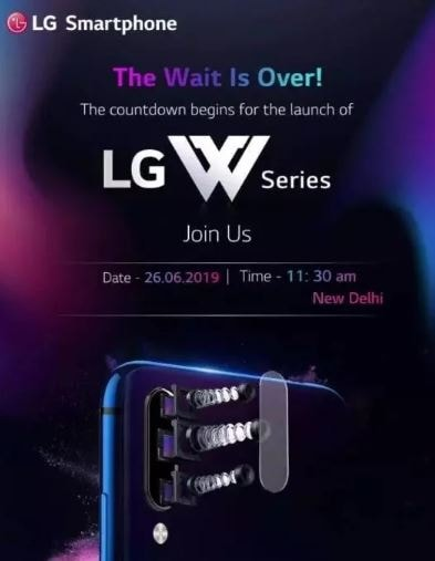LG to announce a new W-series of smartphones in India on 26 June, could be called W10
