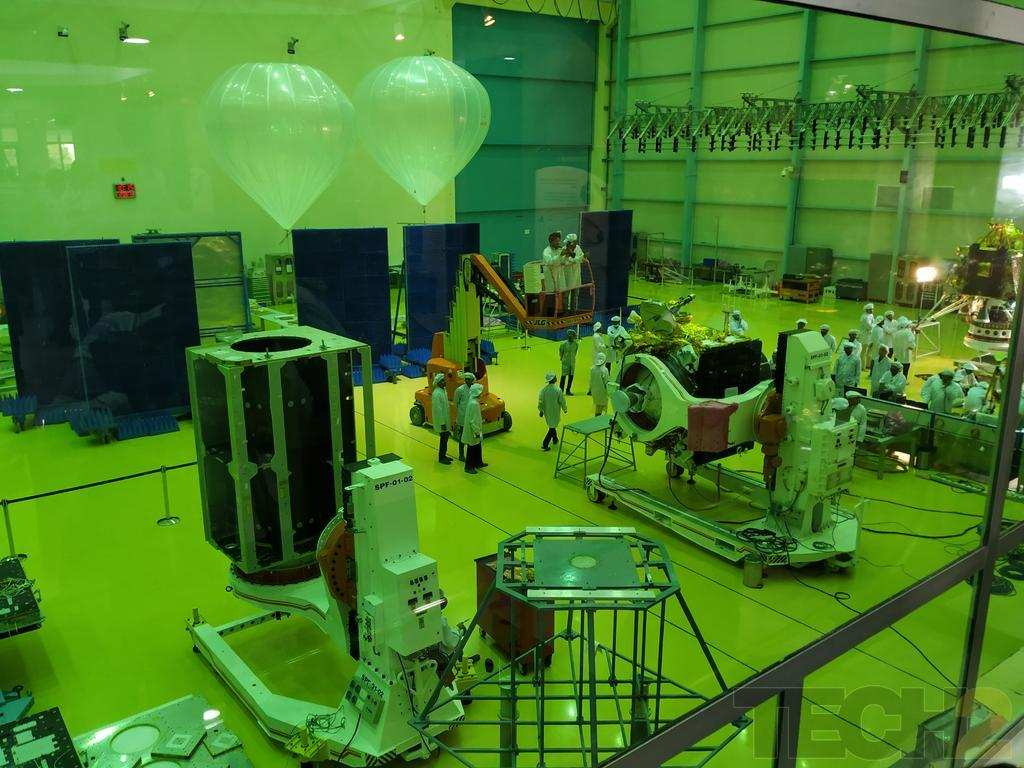 Chandrayaan 2 orbiter and lander revealed at ISRO Satellite Integration and Testing Establishment facility in Bengaluru
