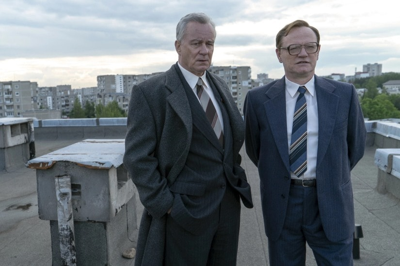 Stellan Skarsgard and Jared Harris in a still from the show. HBO