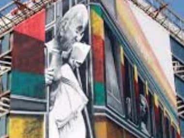 One pedestrian killed near Mumbai's Churchgate railway station after portion of Mahatma Gandhi's mural falls on him