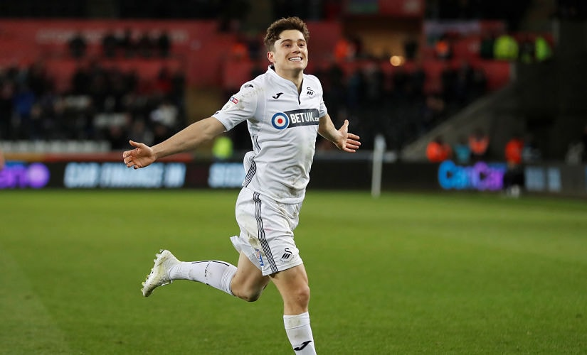 Daniel James scored 5 goals in 38 matches for Swansea City last season. Action Images via Reuters/Matthew Childs