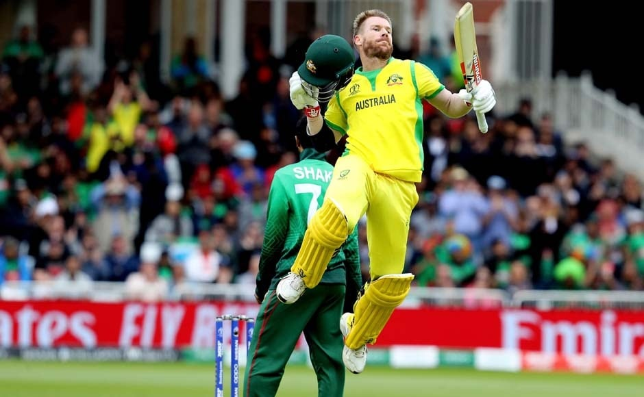 In the sixth match of Australia's Cricket World Cup campaign, and six matches into David Warner's official comeback from a 12-month suspension, he showed off both sides of his personality in hitting a tournament-high 166 which Bangladesh was too resigned to challenge on Thursday at Trent Bridge. AP