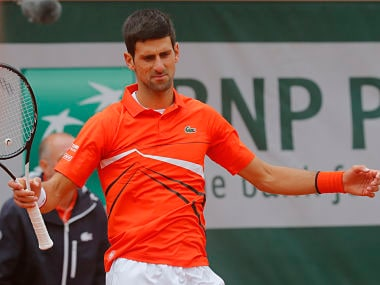 French Open 2019: Novak Djokovics semi-final clash with Dominic Thiem suspended due to rain; match to continue on Saturday