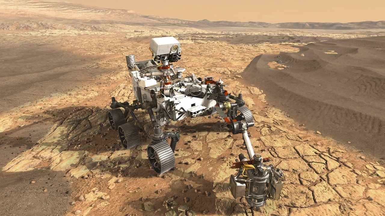 Mars 2020 will be launched in July 2020 by NASA. It will collect samples while investigating the planet's surface and storing them for another rover to come and collect later on. Image credit: NASA/JPL