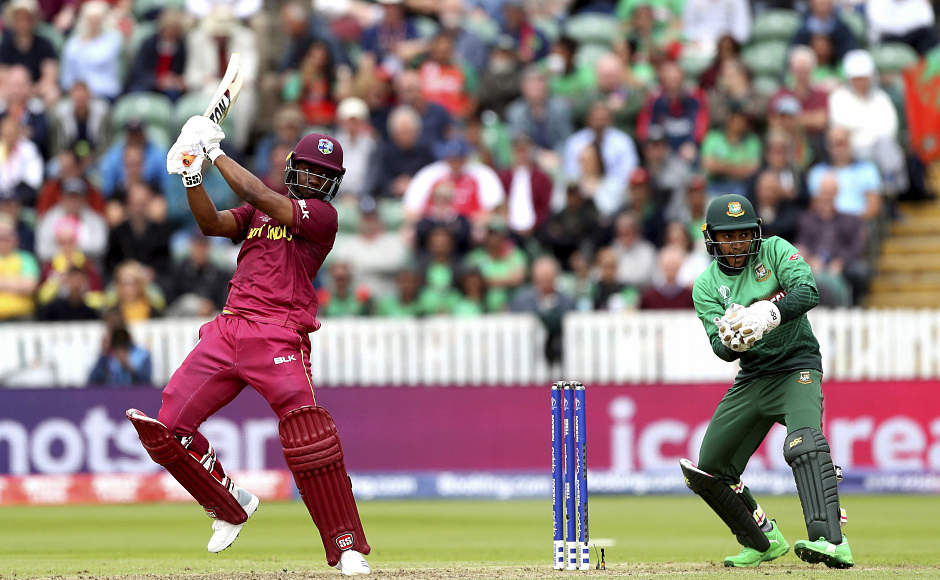 Evin Lewis played a knock of 70, which consisted of six fours and two sixes. Apart from him and Hope, Shimron Hetmyer, too, scored a half-century in the innings. AP