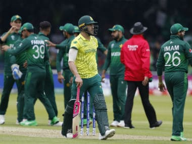Pakistan vs South Africa, ICC Cricket World Cup 2019: Woeful Proteas knocked out of tournament after 49-run loss at Lords
