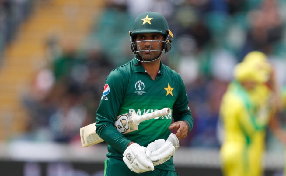 Fakhar Zaman was dismissed for a duck as he slashed Cummins' delivery to third man. AP