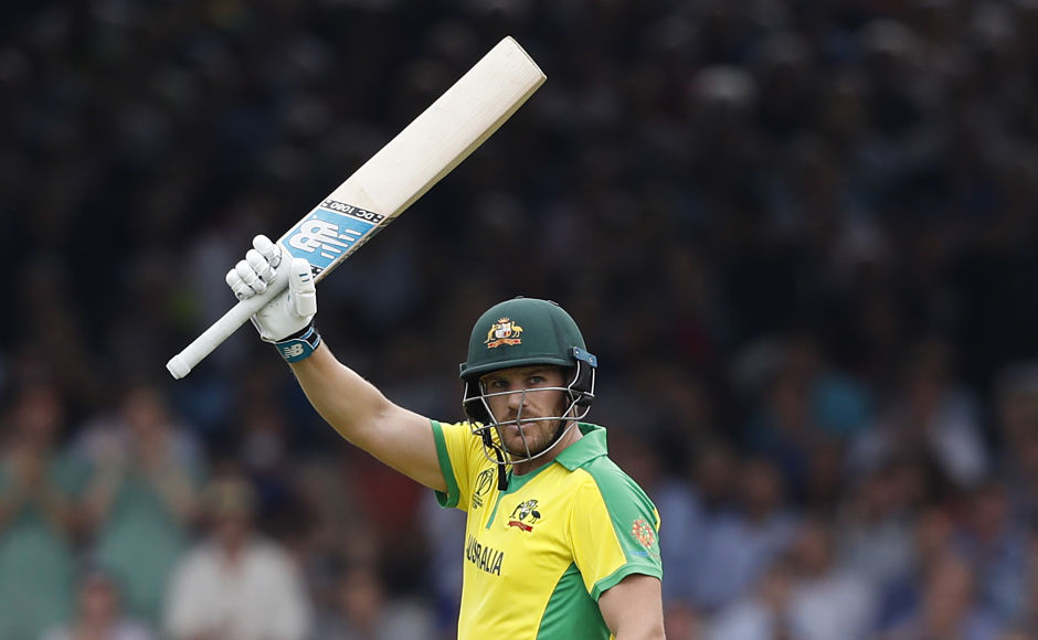 Australia captain Aaron Finch got to his century in 115 balls. He was dismissed the very next ball as Chris Woakes took a catch at fine leg off Jofra Archer's delivery. AP