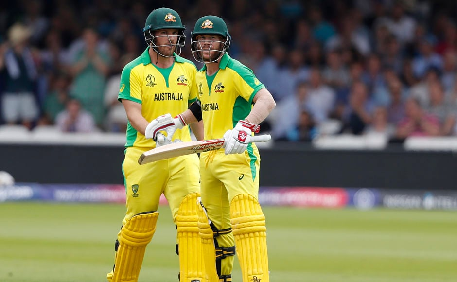 Australia openers David Warner and Aaron Finch built a 123-run stand for the opening wicket before the former fell for 53 runs. AP