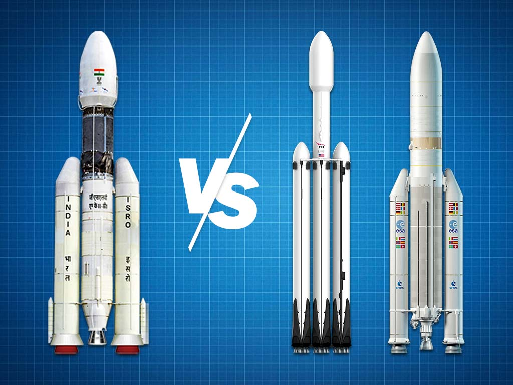 How does ISRO's GSLV Mk-III fare against some of the worlds most powerful rockets?