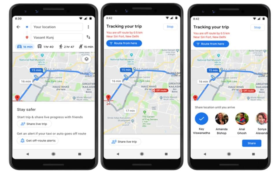 Google Maps to alert Indians if cab drivers deviate from route