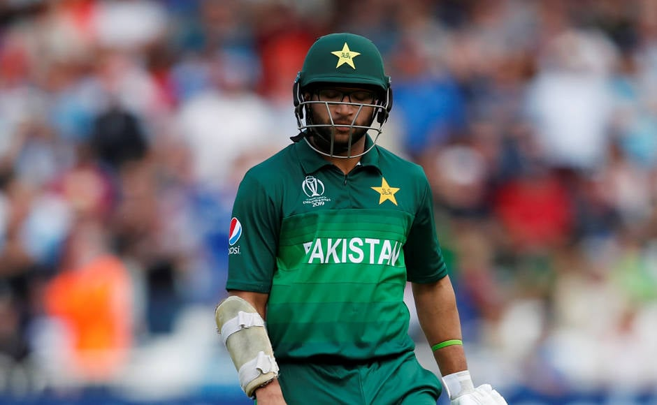 After being put into bat, Pakistan's Imam-ul-Haq built an 82-run partnership with Fakhar Zaman, but missed out on a half-century after being dismissed for 44 by Moeen Ali. Reuters