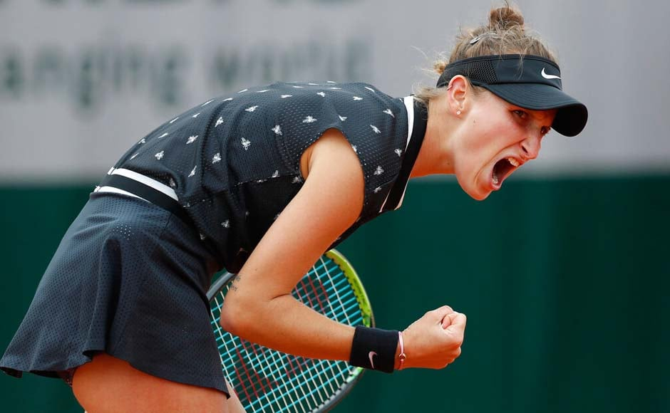Czech teenager Marketa Vondrousova needed four match points to end a four-match losing streak against Petra Martic and reach the semi-finals at the French Open. AP