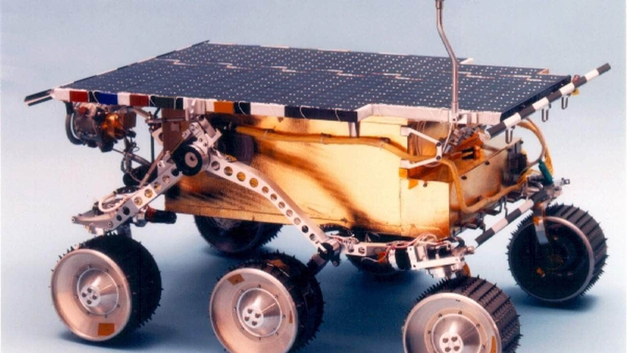 Sojourner was part of NASA's Mars Pathfinder mission in 1996 and was the first rover to have been deployed on another planet. Image credit: NASA/JPL