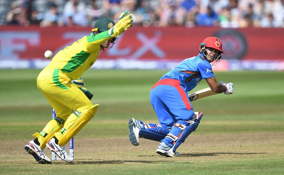 Afghanistan's Najibullah Zadran scored a half-century in his knock of 51 runs from 49 balls to give them some hope in the match. AFP