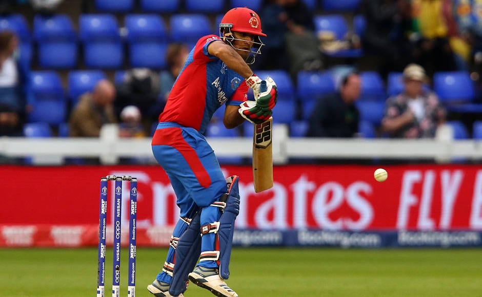 With Afghanistan five down, Najibullah Zadran, who scored 43 runs, built a 64-run partnership with Gulbadin Naib to give some hope for them in the game. AFP