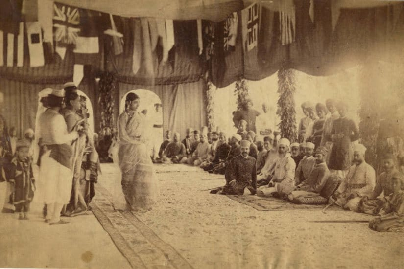 Mushaira by courtesans in Hyderabad. Wikimedia Commons