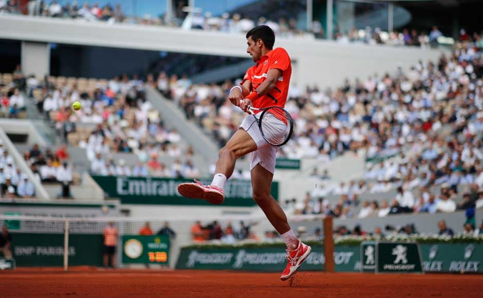 Novak Djokovic has won 15 Grand Slams but his only French Open title was in 2016, also the year he last reached the semis at Roland Garros. AP