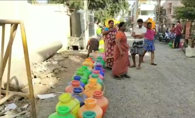 The acute water scarcity has hit just about every segment in Chennai. Image courtesy: 101Reporters