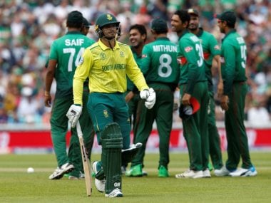ICC Cricket World Cup 2019: From Quinton de Kock's comical run out to Kagiso Rabada dropping Mahmudullah, best moments from Bangladesh's win