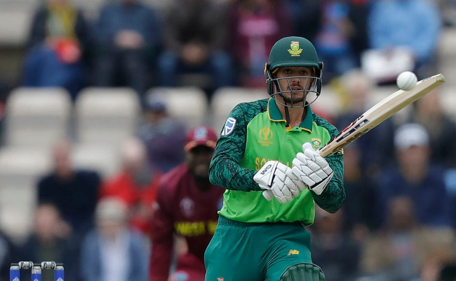 After opening the innings with Hashim Amla, Quinton de Kock remained unbeaten on 17 runs when the rain made its appearance just 40 minutes after the start of play. AP