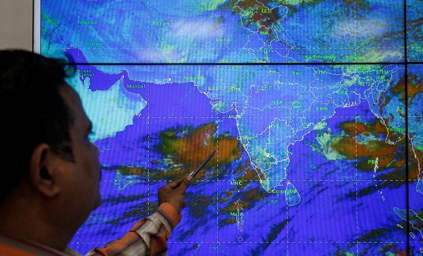 Wind speeds are expected to touch 170 kilometres per hour. Diving and rescue teams and relief material have been kept on standby for rendering assistance to civil authorities. Seen here is a scientist monitoring the cyclone's movement at the IMD office in Ahmedabad. Reuters