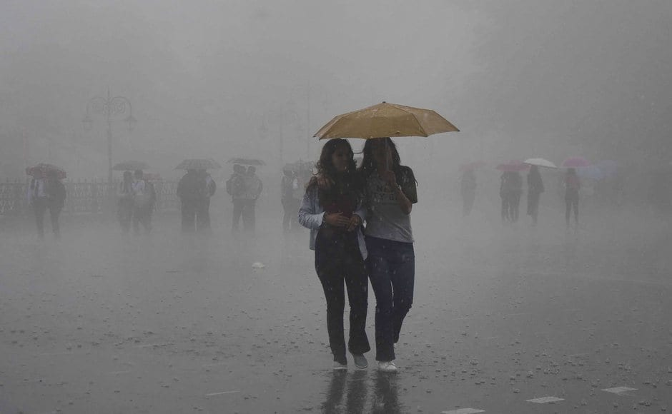The maximum temperature in Himachal Pradesh fell by three to four notches from normal with rain lashing several parts of the hill state on Monday. PTI