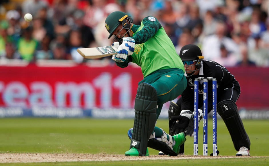 Amidst regular fall of wickets it was Rassie van der Dussen (in pic) and Hashim Amla's half-centuries that propeled South Africa to a respectable 241 after being put into bat by Kane Williamson. Reuters