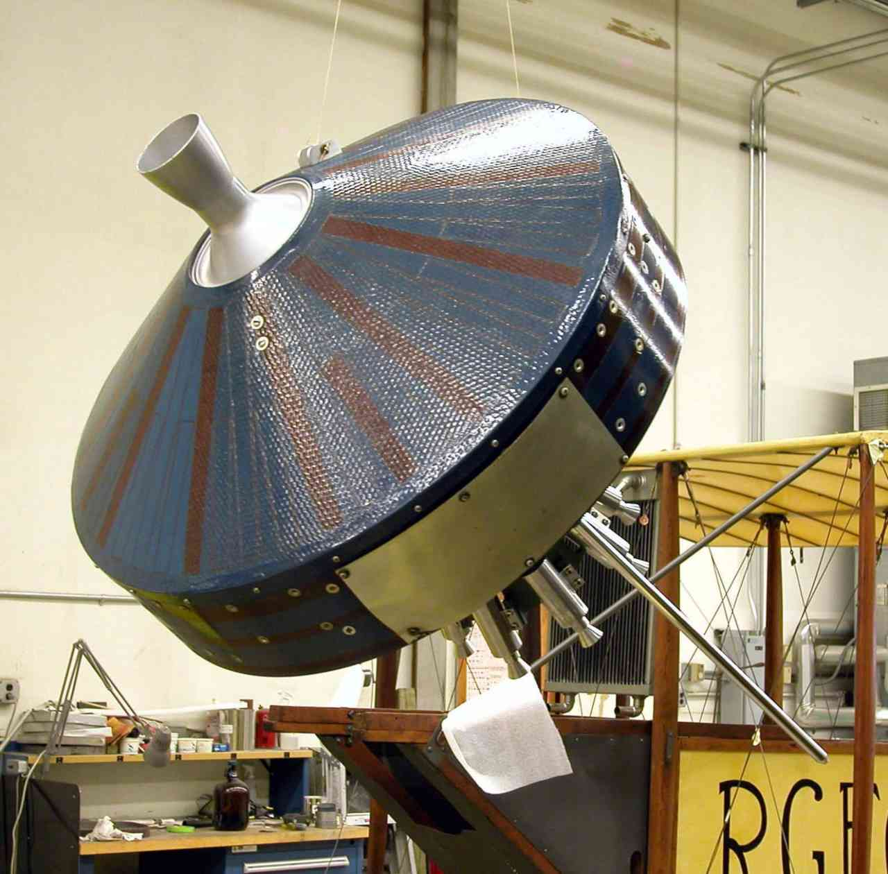 Replica on the Pioneer 1 spacecraft on display at the Smithsonian Museum in Virginia. Image courtesy: The Smithsonian Institute