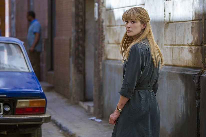 Rosamund Pike in a still from Beirut