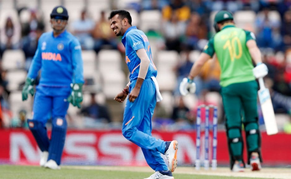 Yuzvendra Chahal did significant damage with his wrist-spin to which the South African batsmen seemed to have no clue. He finished with 4 wickets. AP