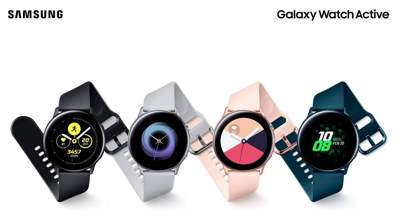 The Samsung Galaxy Watch Active comes in four colours. Image: Samsung