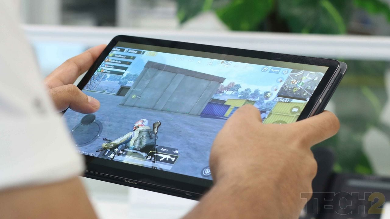 The gaming experience with the Tab S5e is not the best given its price. Image: Tech2/ Omkar P