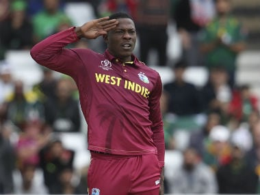 ICC Cricket World Cup 2019: Jason Holder says England coach Trevor Bayliss will have to 'learn to accept' Sheldon Cottrell's salute