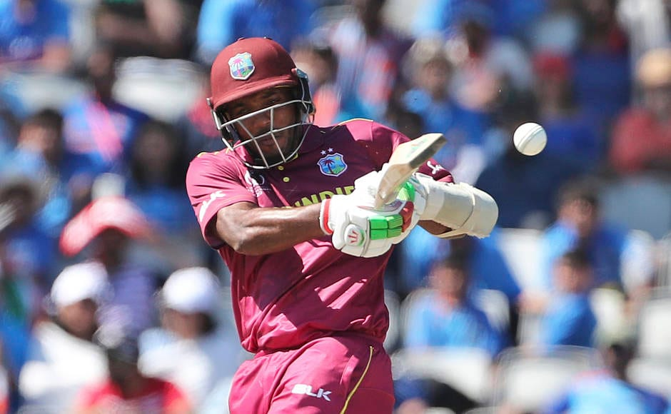 West Indies' Sunil Ambris was the team's top-scorer with 31 runs. Hardik Pandya dismissed Ambris in the 18th over to leave Windies three down. AP