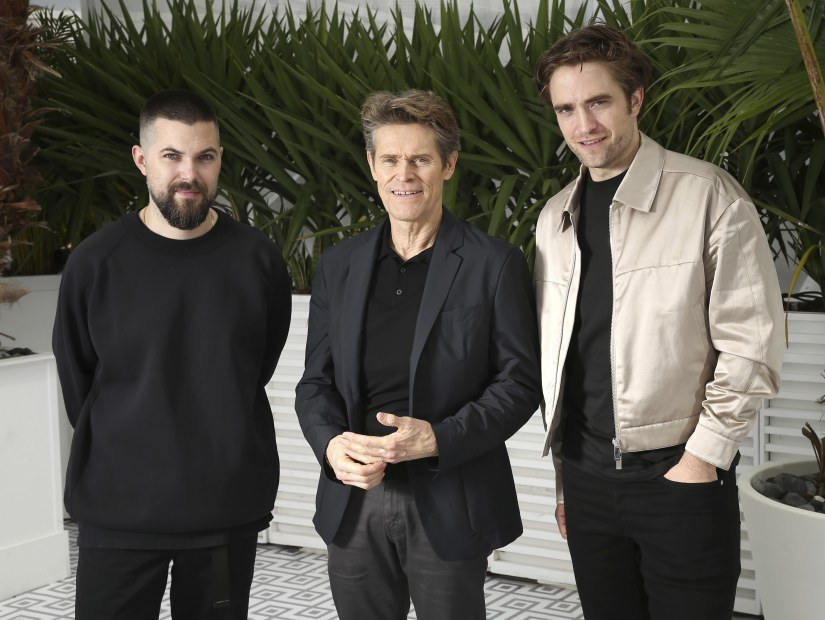 Director Robert Eggers, from left, actors Willem Dafoe and Robert Pattinson pose for portrait photographs for the film 'The Lighthouse' at the 72nd international film festival, Cannes, southern France, Sunday, May 19, 2019. (Photo by Joel C Ryan/Invision/AP)