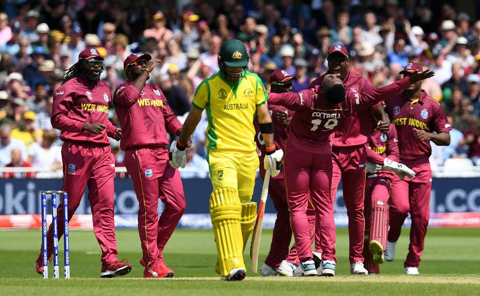 Sheldon Cottrell and company started off the matchremarkably for West Indies as they removed top four of Australia in under first eight overs of the match. AFP
