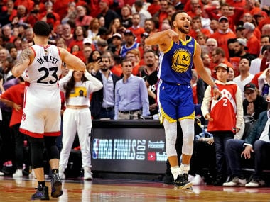 NBA Finals 2019: Warriors beat Raptors to keep title hopes alive thanks to clutch 3-pointers by Stephen Curry, Klay Thompson