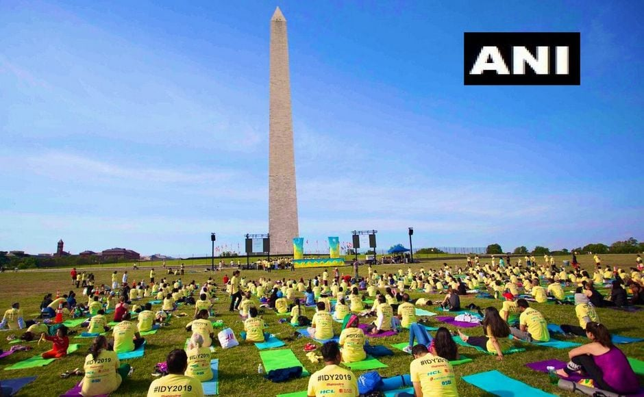 On Sunday, more than 1,500 people participated in the celebrations in Washington, DC on Sunday. The event was organised by the Indian Embassy, at the Washington Monument. ANI