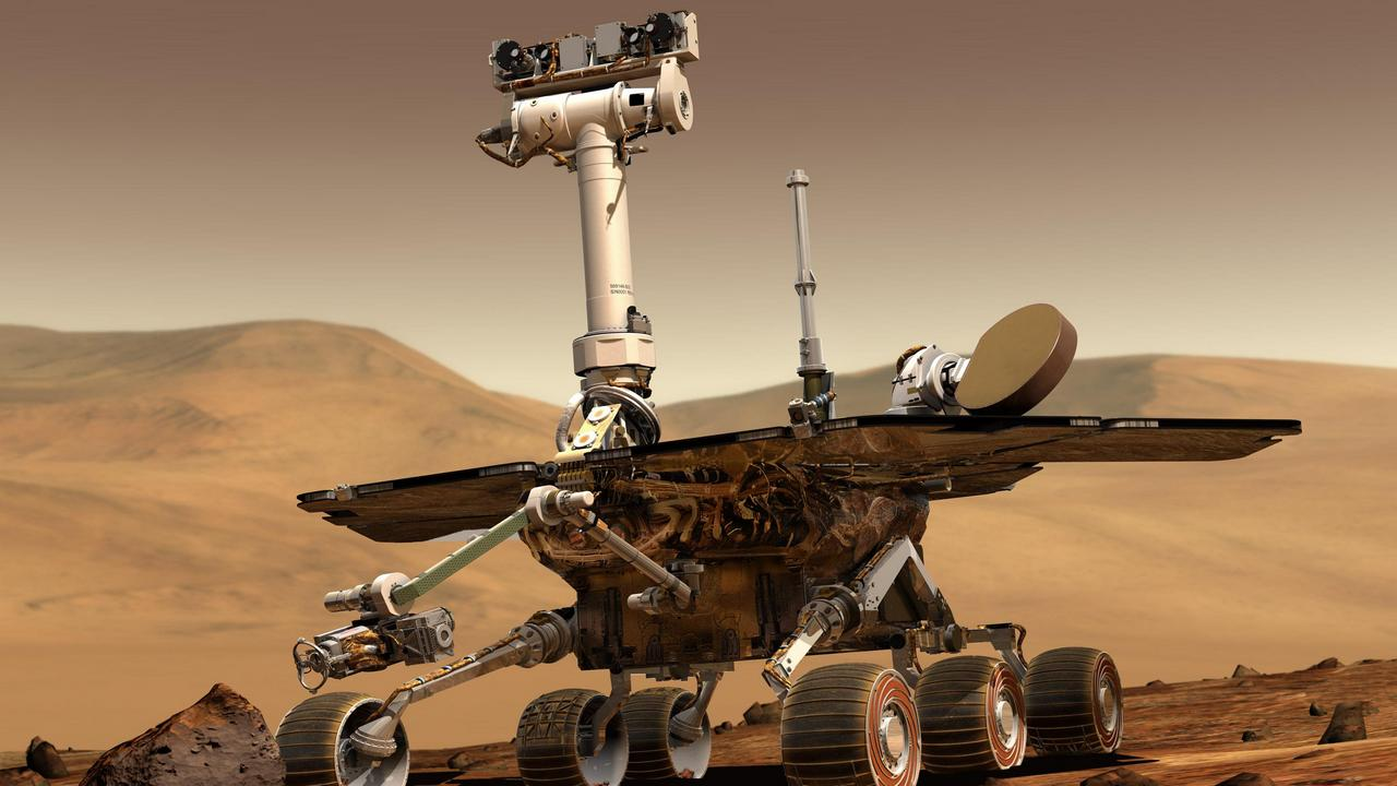 Spirit and Opportunity were rovers sent to Mars in 2004 as part of the Mars exploration rover mission. Their name was chosen through a NASA sponsored student essay competition. Image credit: NASA/JPL