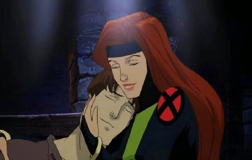 Scott and Jean Grey in a still from X-Men: Evolution