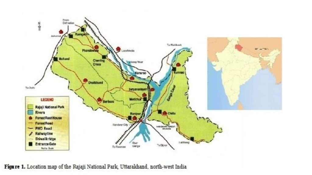 Rajaji National Park: In Uttarakhand, a tiger reserve is divided by infrastructure projects - Firstpost