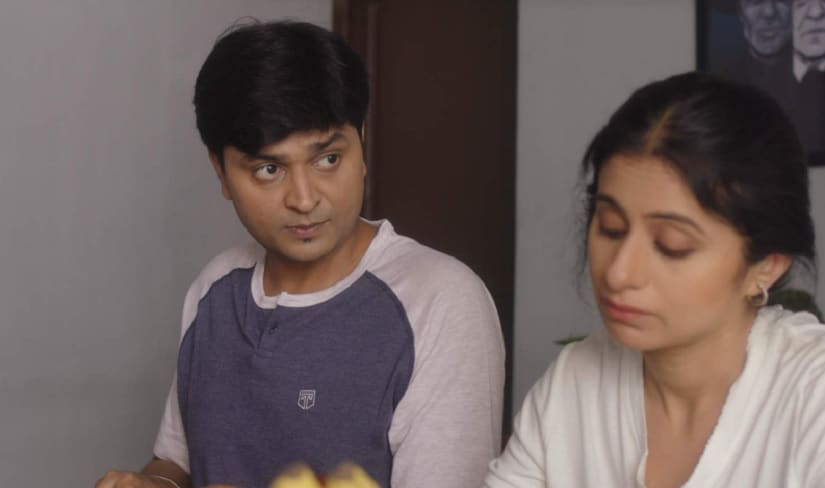 Vipul Goyal and Rasika Dugal in a still from Humorously Yours season 2